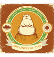 groundhog day label vector image