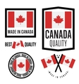 Made in Canada label set national flag vector image