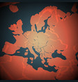 africa and europe abstract map vector image