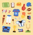 american football player uniform sport vector image