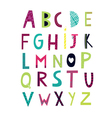 cheerful alphabet vector image
