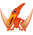 Cute pterodaytyl cartoon vector image