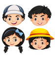 faces of boys and girls vector image