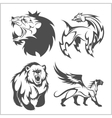 Lion head griffin fyl bear tattoos and designs vector image
