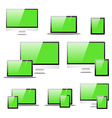 Set realistic computer equipment Isolated notebook vector image