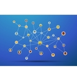Social network flat on blue vector image