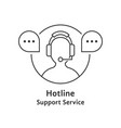 thin line hotline icon vector image