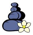 zen basalt stones icon icon cartoon vector image
