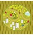 Cartoon map pattern of small town and countryside vector image