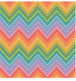 seamless multicolors zig zag pattern vector image