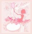 tennis girl silhouette vector image