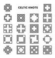 Square Celtic Knots vector image vector image