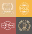 craft beer and brewery logos vector image