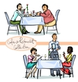 Cafe and Restaurant Collection - hand drawn scenes vector image