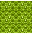 Seamless green river fish scales vector image