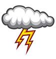 Cloud lighting icon vector image vector image