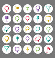 abstract map marker elements web pin set vector image
