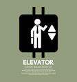 Elevator Graphic Symbol vector image