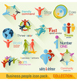 Flat Business People Logo Collection vector image