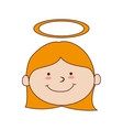 girl halo smiling icon graphic vector image