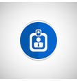 identification card icon profile search vector image