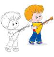 Little balalaika player vector image vector image