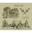 medieval castles vector image