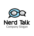 Nerd Talk Design vector image