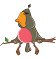 Cute Parrot Cartoon Character vector image vector image