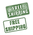 Realistic grunge rubber stamp Free Shipping vector image