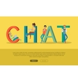 Chat Conceptual Flat Style Web Banner vector image