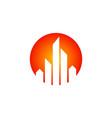 cityscape building round logo vector image