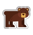 cute bear character icon vector image