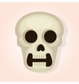 skull head dead day vector image