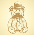 Teddy Hat Mustache Tie vector image