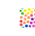 watercolor bright stains collection o vector image