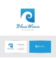 Square blue wave vector image