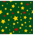 Yellow Red Stars Green Background vector image