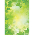 green spring background vector image