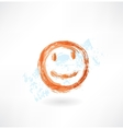 Smile grunge icon vector image vector image