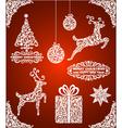 Set of Christmas Symbols vector image vector image