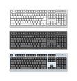 Photo-realistic Keyboards Set vector image