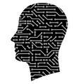 circuit head vector image vector image