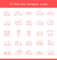 Transport icons Thinline Stroke vector image vector image