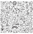 art tools  school - doodles set vector image