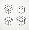 Different boxes collection vector image