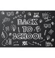 Back to school chalkboard sketch vector image