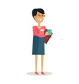 business woman with cup vector image