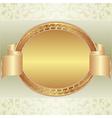 Gold oval frame vector image