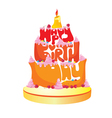 Happy Birthday Text Cake vector image